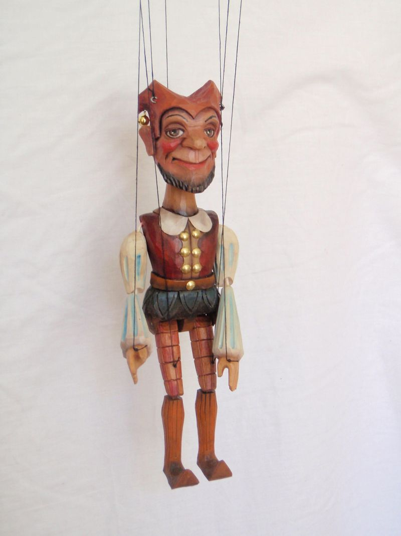 Jester marionette puppet KW002